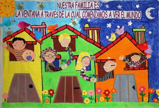 Semana internacional de la familia for Mural una familia chicana